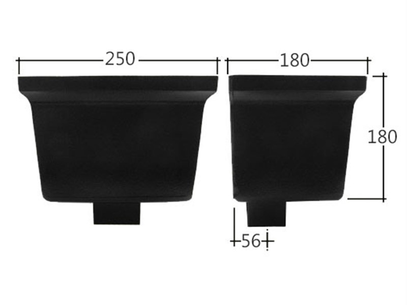 Vandal Resistant 102x102mm Square Standard Hopper Head